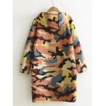 cheap Camouflage Print Hooded Sweatshirt Dress