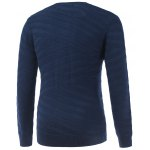 cheap Round Neck Long Sleeve Ribbed Pullover Sweater