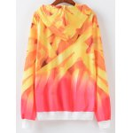cheap Ombre Letter Print Hoodie