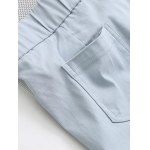 Buttoned High-Waisted Plus Size Slim Pants for sale