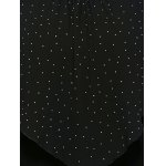 Plus Size Polka Dot Overlay Blouse for sale