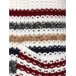 Colorful Striped Double Pockets Cardigan for sale