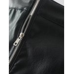 Slim Zipper Flying PU Leather Skirt deal