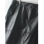 cheap Slim Zipper Flying PU Leather Skirt