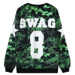 cheap Letter Leaf Print Sweatshirt
