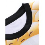 Round Neck 3D Emoji Face Print Long Sleeve Sweatshirt deal