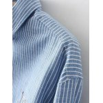 Embroidered Striped Buttoned Shirt deal