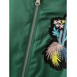 Cactus Embroidered Spliced Souvenir Jacket for sale