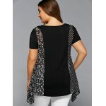 Plus Size Polka Dot and Floral Blouse deal