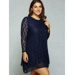 Plus Size Layered Asymmetrical Lace Dress deal