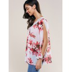 Lace Splicing Slit Sleeve Blouse deal