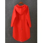 cheap Plus Size Hooded Utility Coat