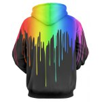 cheap Multicolor Paint Dripping Long Sleeve Hoodie