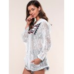 Pockets Design Lace Hoodie deal