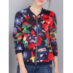 Colorful Pattern Bomber Jacket