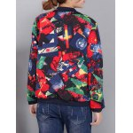 Colorful Pattern Bomber Jacket deal