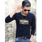 cheap Long Sleeve Scene Print T-Shirt