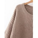 Relaxed Fit Long Sleeve Knitted Tunic Dress photo