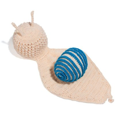 Newborn Baby Cartoon Snail Shape Knitted Blanket Photography