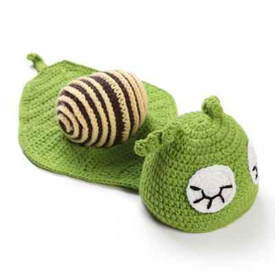 Newborn Baby Sleeping Cartoon Snail Shape Knitted Blanket Photography