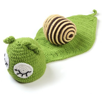 Sleeping Cartoon Snail Shape Knitted Blanket Photography