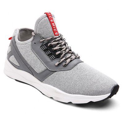 PU Leather Insert Color Block Athletic Shoes