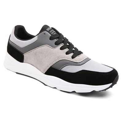 Color Block Tie Up Athletic Shoes