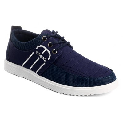 Stitching Lace-Up Casual Shoes