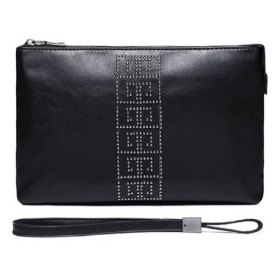 Wristlet Rivet Business Clutch Bag