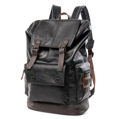 Flap Buckle Strap Vintage BackpackMens Bags<br>Flap Buckle Strap Vintage Backpack<br><br>Backpack Usage: Daily Backpack<br>Backpacks Type: Softback<br>Closure Type: No Zipper<br>Pattern Type: Solid<br>Main Material: PU<br>Gender: For Men<br>Weight: 1.200kg<br>Package Contents: 1 x Backpack<br>Length: 30CM<br>Width: 17CM<br>Height: 47CM
