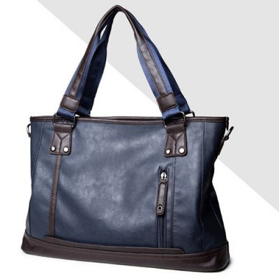 Zip PU Leather Laptop BagMens Bags<br>Zip PU Leather Laptop Bag<br><br>Laptop Bags Type: Laptop Briefcase<br>Gender: For Men<br>Material: PU<br>Style: Vintage<br>Closure Type: Zipper<br>Pattern Type: Solid<br>Length: 41CM<br>Width: 11CM<br>Height: 29CM<br>Weight: 1.200kg<br>Package Contents: 1 x Laptop Bag