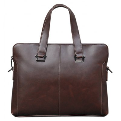 Color Scissor PU Leather Briefcase