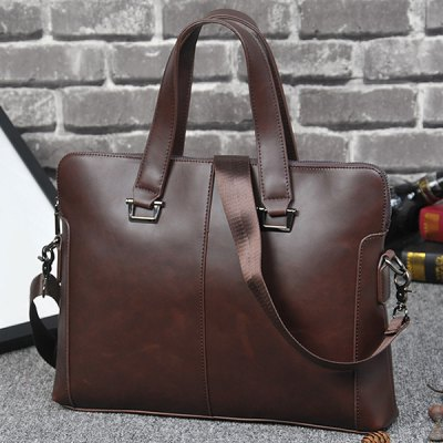 PU Leather BriefcaseMens Bags<br>PU Leather Briefcase<br><br>Gender: For Men<br>Style: Fashion<br>Closure Type: Zipper<br>Pattern Type: Solid<br>Height: 29CM<br>Length: 38CM<br>Width: 6CM<br>Main Material: PU<br>Weight: 1.200kg<br>Package Contents: 1 x Briefcase