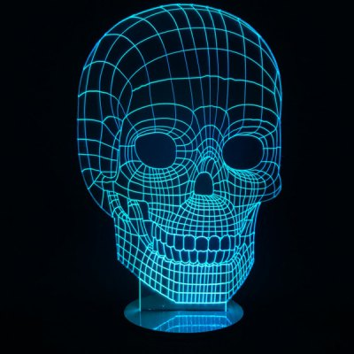 7 Color Change Skull Shape 3D LED Night Light