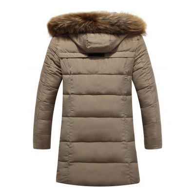 Applique Quilted Coat with Fur HoodMens Jackets &amp; Coats<br>Applique Quilted Coat with Fur Hood<br><br>Clothes Type: Padded<br>Style: Casual<br>Material: Cotton Blends,Faux Fur,Polyester<br>Collar: Hooded<br>Clothing Length: Long<br>Sleeve Length: Long Sleeves<br>Season: Winter<br>Weight: 1.311kg<br>Package Contents: 1 x Padded Coat
