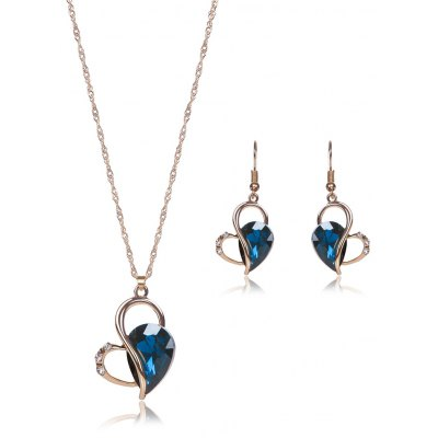 Hollowed Faux Crystal Jewelry Set