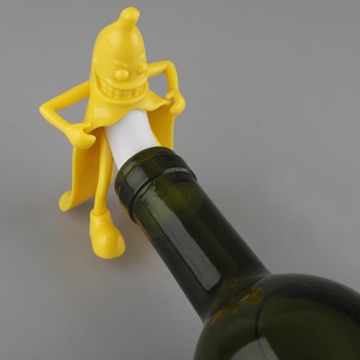 Cartoon Mr. Banana Red Wine Silicone Bottle Stopper