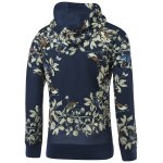 cheap 3D Floral and Birds Painting Print Hooded Long Sleeve Hoodie