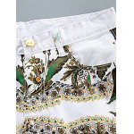 Slim Fit All Over Flower Printed White Jeans deal