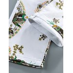 Slim Fit All Over Flower Printed White Jeans photo