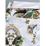 Slim Fit All Over Flower Printed White Jeans for sale