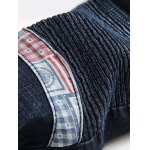 Zipper Fly Straight Insert Scratched Pintuck Jeans for sale