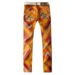 cheap Slim Fit All Over Abstract Printed Jeans