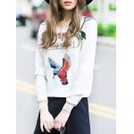 cheap Embroidered Patched Sweatshirt