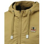 Rib Splicing Design Hooded Zip-Up Jacket deal