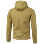 cheap Rib Splicing Design Hooded Zip-Up Jacket