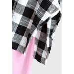 Sleeveless Blouse and Plaid Sweatshirt deal