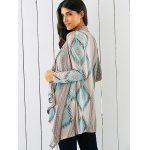 Tribal Print Asymmetrical Cardigan deal