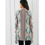 Tribal Print Asymmetrical Cardigan for sale