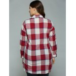 best Plus Size High-Low Checked Long Shirt